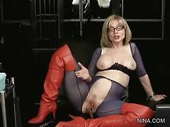 Pretty Blonde Lady Toys Her Pussy 3