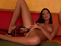 In this scene, you will be watching a fantastic lesbian orgy involving a group of beautiful ladies. Eve Angel and her friends all about having fun and nothing`s stopping them from having an explicit full-on lesbian orgy in the living room.