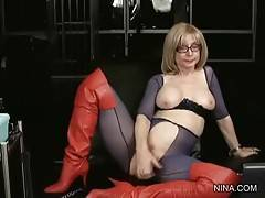 Pretty Blonde Lady Toys Her Pussy 2