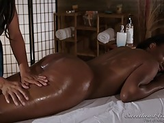 Who doesn`t love a good massage? Well, Daya was sure looking forward to a nice massage, until Anya Ivy decided to just go ahead and eat her out. Daya, being the polite and agreeable girl that she is, accommodates Anya`s lesbian urges. Anya eats pussy like