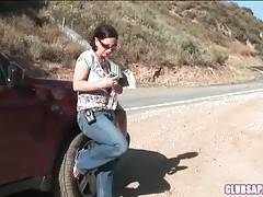 Melissa Monet Hunts For Hitchhiking Sweet Young Girl 1