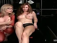 Two mature lesbians Nica and Nina answer fans questions.